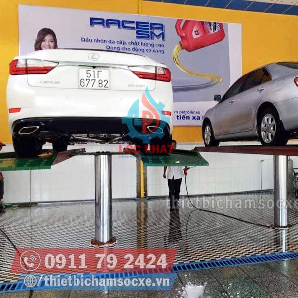 Cầu Nâng Rửa Xe Ô Tô 1 Trụ Lắp Kiểu Nổi Đẳng Cấp Rửa Xe Sang Chảnh