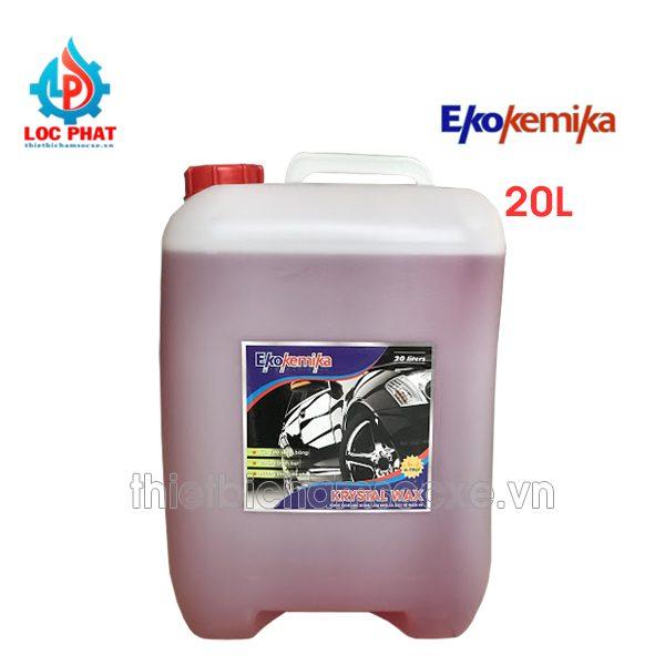 dung dịch bóng sơn ekokemika crystal wax 20l