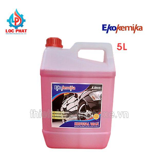 dung dịch bóng sơn ekokemika crystal wax 5l